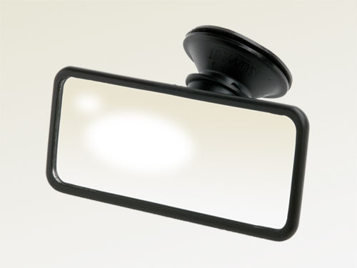 Easy to apply Suction Mirror, 150 x 60 mm